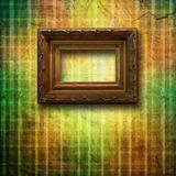 Old room, grunge interior with frame Stock Photography