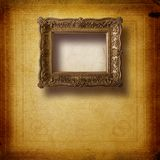 Old room, grunge interior with frame Royalty Free Stock Images