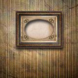 Old room, grunge interior with frame Royalty Free Stock Photos