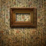 Old room, grunge interior with frame Royalty Free Stock Photo