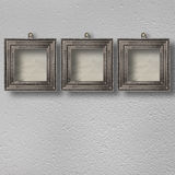 Old room, grunge  interior with frames Stock Photos