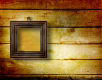Old room, grunge  interior with frames Stock Images