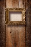 Old room, grunge interior with frames Stock Image