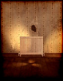 Old room with heater on wall Royalty Free Stock Photos