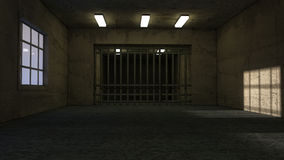Old room and jail Royalty Free Stock Photo