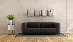 Old room with modern furniture Stock Photos
