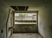 Old room in old warehouse Royalty Free Stock Image