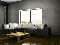 Old room with sofa Royalty Free Stock Image