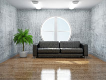 Old room with sofa Stock Photos