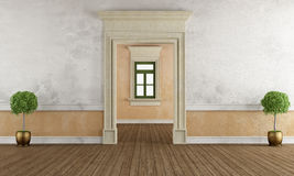 Old room with stone doorway Royalty Free Stock Photo
