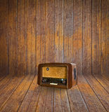 Old room and vintage radio Royalty Free Stock Photo