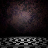 Old Room With Checkerd Floor Royalty Free Stock Photography