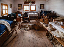 Old room in  wooden house. Old room in  farmer's house Royalty Free Stock Image