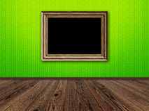 Old room with wooden photo frame Stock Photography