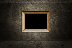 Old room with wooden photo frame Royalty Free Stock Image
