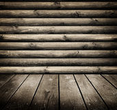 Old room with wooden wall Royalty Free Stock Photos