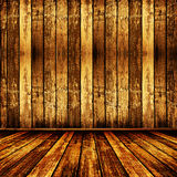 Old room with worn wallpaper Royalty Free Stock Image