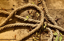 Old rope. Close up view of the old rope background Royalty Free Stock Photography