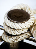 Old rope royalty free stock photo