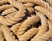 Old rope background Stock Images