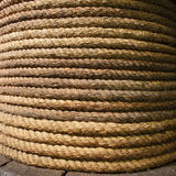 Old Rope Background. An old coiled, thick, long, strong rope background Stock Photography