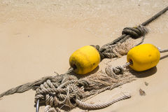 Old rope with bouy recue Stock Photos