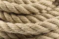 Old rope close up Royalty Free Stock Image