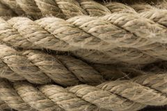 Old rope close up Stock Photography