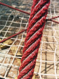 Old rope. Close up of old red rope Royalty Free Stock Image