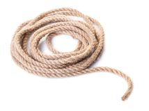 Old rope closeup Stock Photo