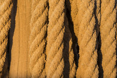 Old rope detail Royalty Free Stock Photo