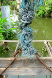 Old Rope Knot. Stock Photos