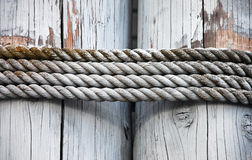 Old rope strands Royalty Free Stock Image