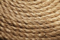 Old rope texture Royalty Free Stock Image