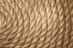 Old rope texture Royalty Free Stock Images
