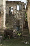 Old Roscigno, Cilento (IT). Ghost town. stock images