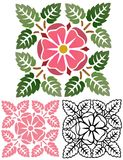 Old Rose Decorative Element Stock Images