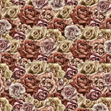 Old roses paper wallpaper Stock Photography