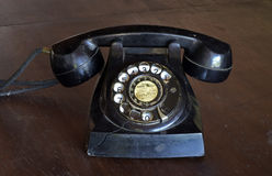 Old rotary dial telephone Royalty Free Stock Images