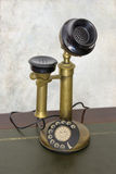 Old rotary phone. Antique vintage telephone. Rotary phone Stock Image