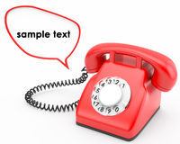 Old rotary phone Royalty Free Stock Images