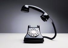 Old rotary telephone ringing Stock Photo