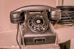 Old rotary telephone Royalty Free Stock Images