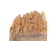 Old rotten boards from one end Royalty Free Stock Photo