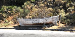Old rotten boat Stock Photos