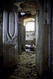 Old rotten door of an abandoned homestead Khvostov, Lipetsk region stock photos