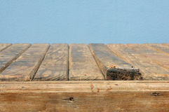 Old rotten planks of table Stock Image