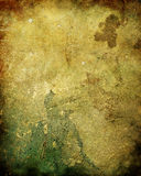 Old Rotten Plaster Wall Texture. An ancient, rotten, moldy plaster wall background or texture with fungus and mildew stock illustration