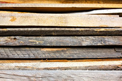 Old, rotten, wooden decking planks texture. Old, rotten, wooden decking planks in a row royalty free stock photos