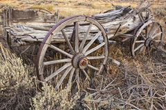 Farm and ranch wagon in sage brush Royalty Free Stock Photo